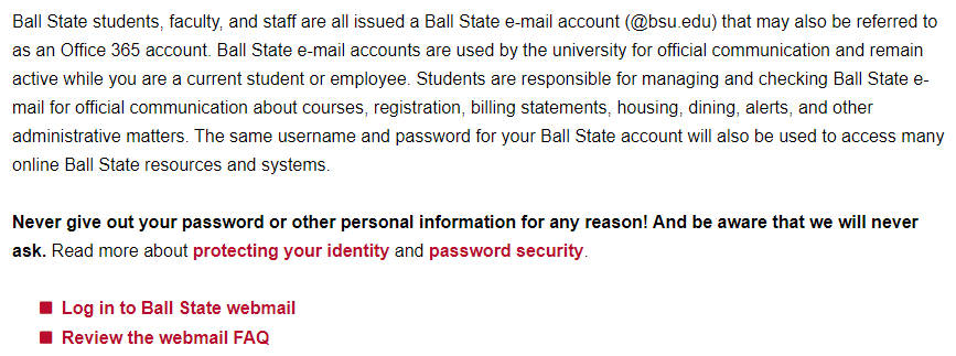 BSU Webmail Login | BSU Mail Login