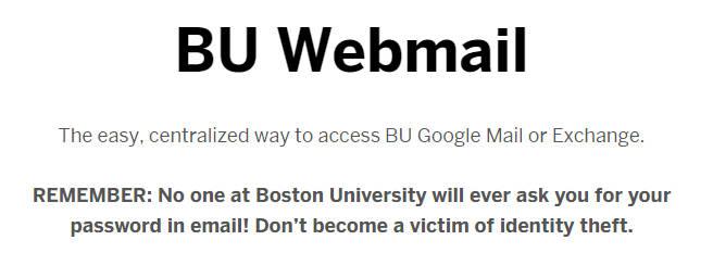 BU Webmail Login | BU Mail Login