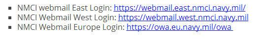 NMCI Webmail Login   NMCI Mail Login