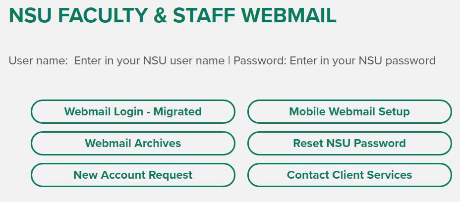 NSU Webmail Login | NSU Mail Login