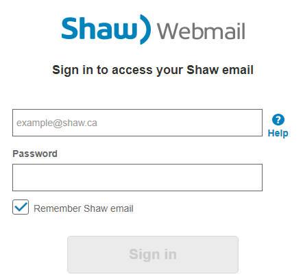 Shaw Webmail Login | Shaw Mail Login