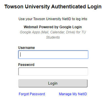 Towson Webmail Login | Towson Mail Login